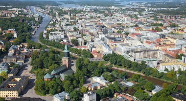 city of turku from the air